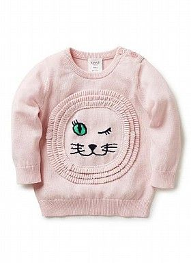 Baby Girls Knitwear & Jumpers | Lion Sweater | Seed Heritage