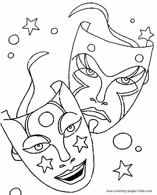 comedy tragedy drama coloring pages