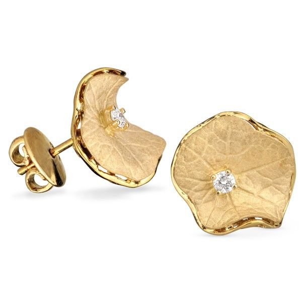 Cercei aur si diamante DCGV00546 ‐ Bijuteria Teilor