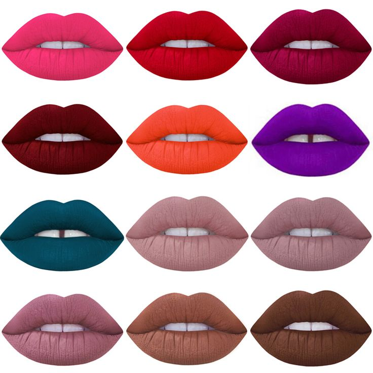 2016 Brand Makeup Waterproof batom Tint Lip Gloss Red Velvet True Brown Nude Matte Lot Makeup Lipstick lip-tattoo-lipstick