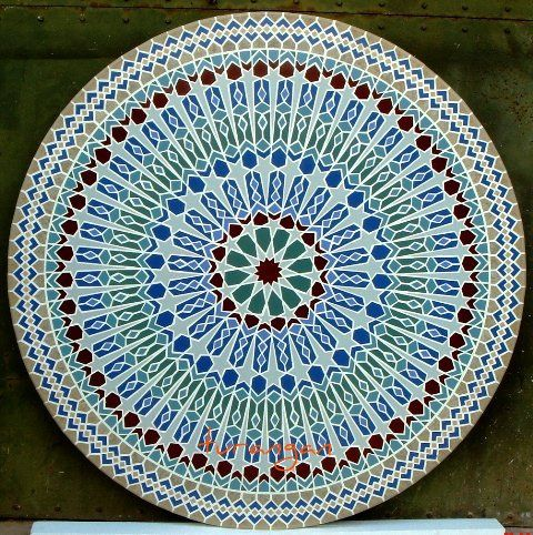Film Noir Spiral Mandala Mosaic by Margaret Almon   Flickr - Photo Sharing!