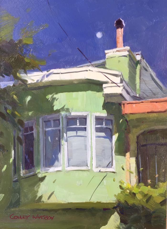 Colley Whisson, Moonrise over San Francisco, USA.