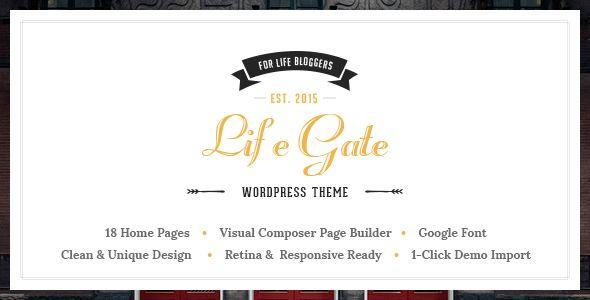 Life Gate - Vintage Personal Blog WordPress Theme