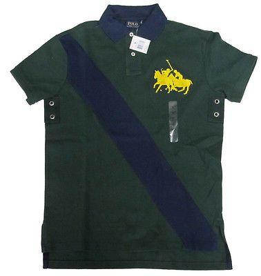 Polo-Ralph-Lauren-Mens-Equestrian-Match-Big-Pony-Custom-Fit-Striped-Shirt-S-M-L
