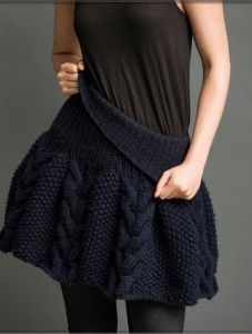 вязаная юбка спицами с описанием