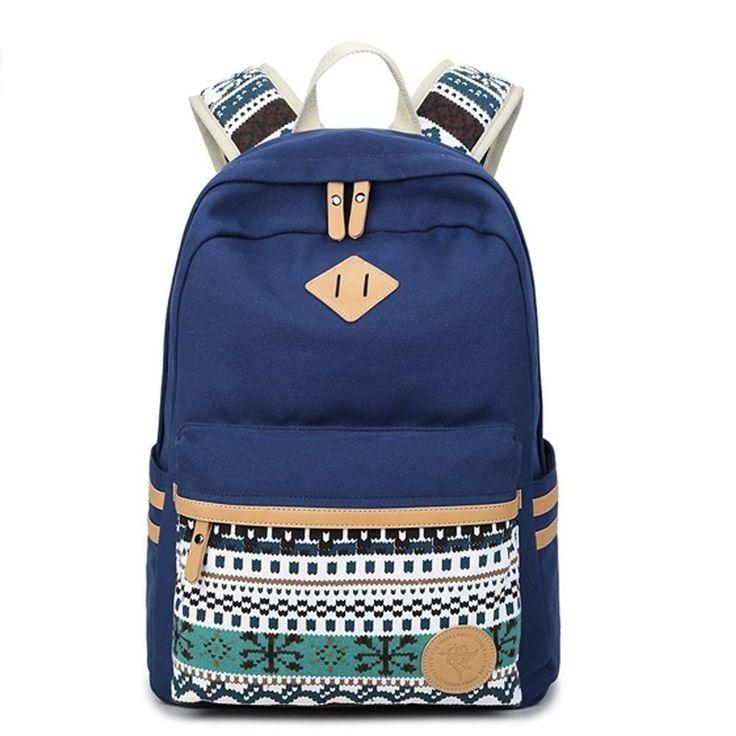 College Backpack Lightweight Canvas School bag 14 Inch Laptop Book bag Unisex #Bookbag #backtoschool #backpack #backtoschool2017