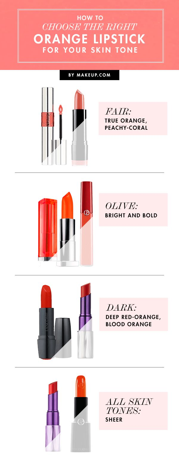 How to Choose the Right Orange Lipstick for Your Skin Tone