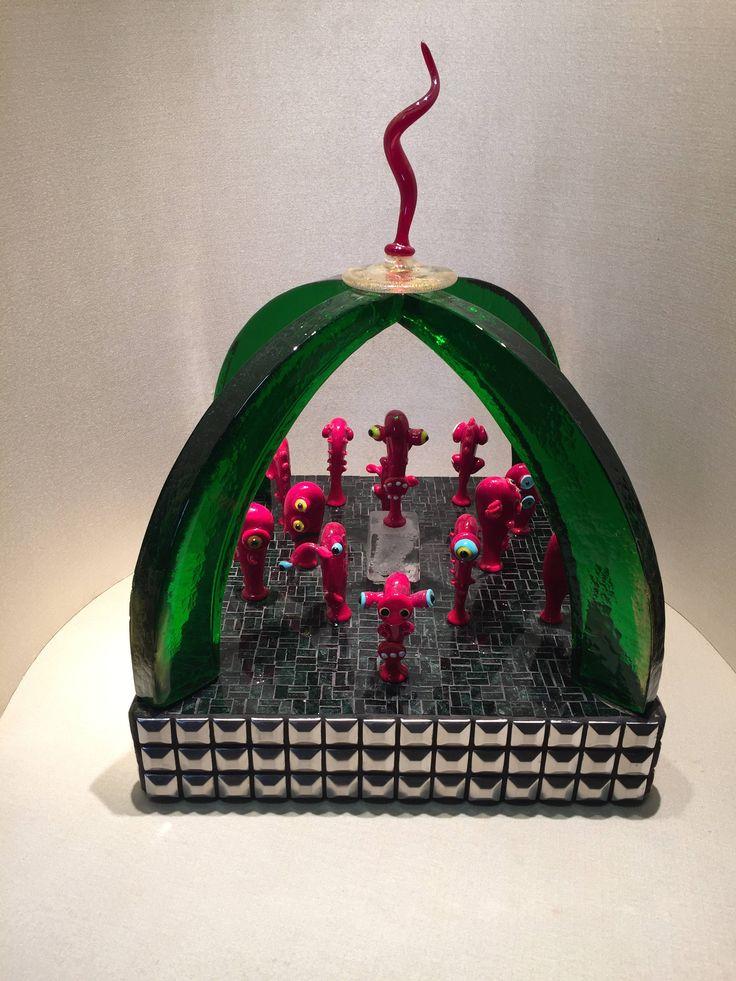 murano glass sculpture / scultura in vetro di murano / abstract sculpture / scultura con teste in vetro / handmade / murano glass / heads di Sanmarcoartedesign su Etsy