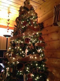Christmas tree with DIY banners