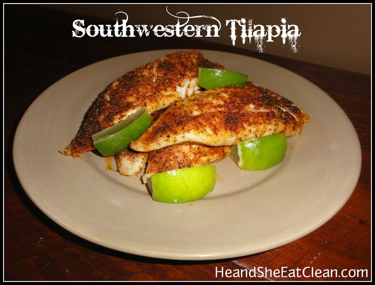Clean Eat Recipe :: Southwestern Tilapia -- this was really easy to make and had a lot of flavor. Used lemon instead of lime because that is what I had on hand. Next time I would use a little less of the seasoning because it was a little overpowering  Delish!