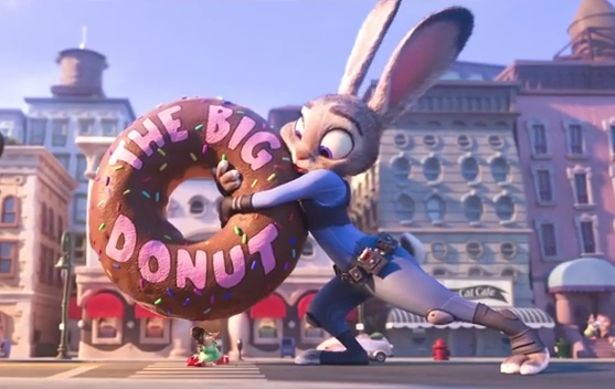 """""""Have a donut"""" clip from Disney's Zootopia"""
