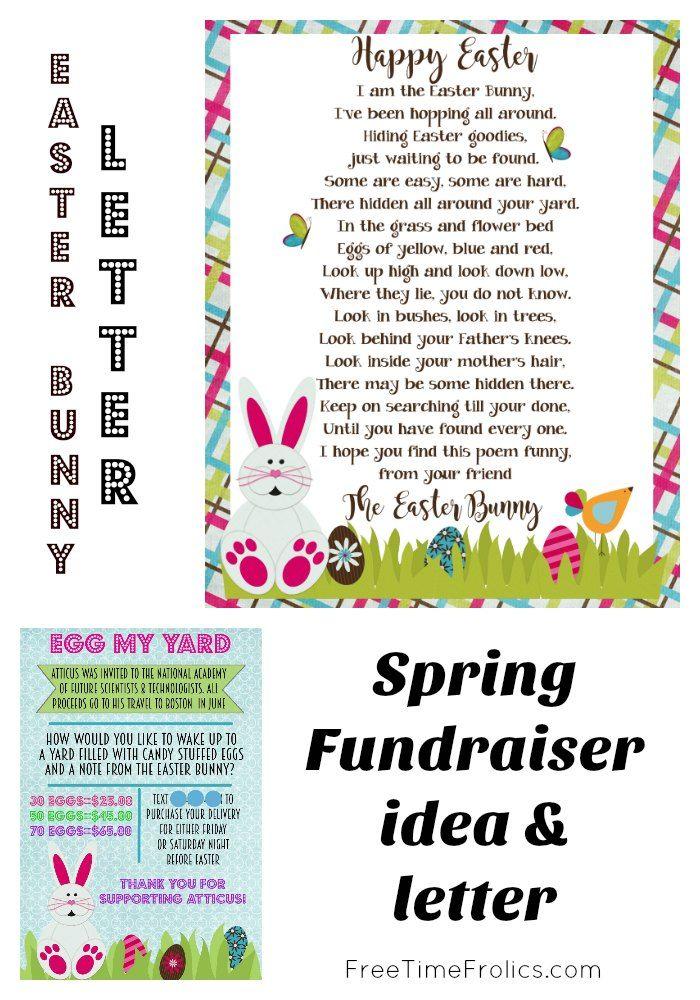 Easter Bunny Letter Easter Bunny Letter Fundraiser Flyer