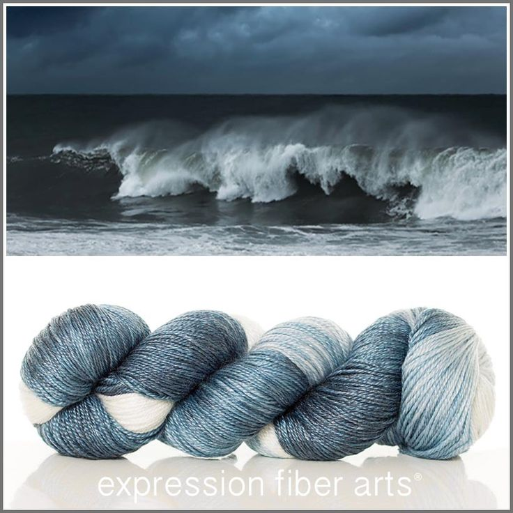 Expression Fiber Arts, Inc. - CRASHING WAVES 'LUSTER' SUPERWASH MERINO TENCEL SPORT, $24.00 (http://www.expressionfiberarts.com/products/crashing-waves-luster-superwash-merino-tencel-sport.html)