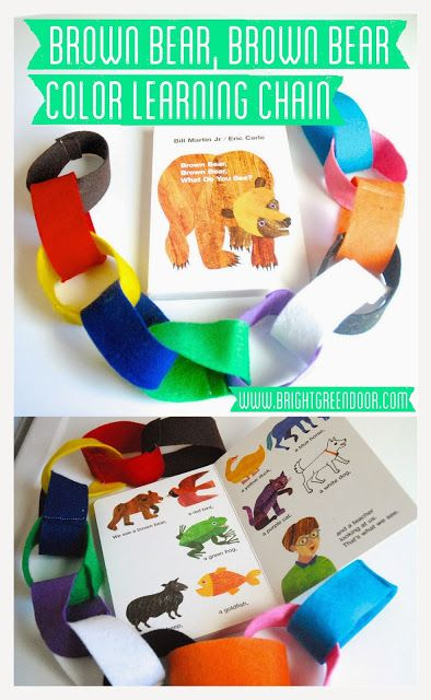 Brown Bear Brown Bear Color Learning Chain Could lay out each color in the story and have the kids make a ring when they hear the right color. Cute!