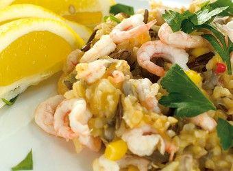 God blanding av ris og reker fra matbloggen Fru Timian #oppskrift #sjømat #middag