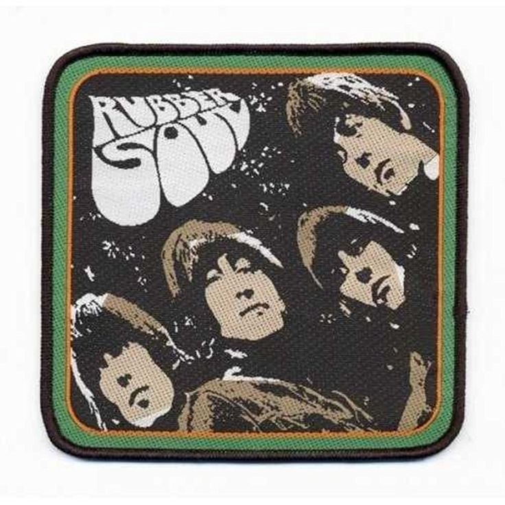 The Beatles Classic Rubber Soul Album Embroidered Iron on Patch