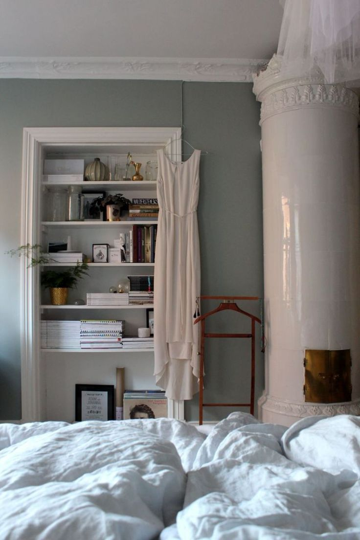 Remove a closet door for easy storage and display in any room.