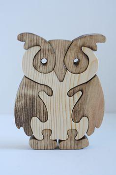 Un puzzle-búho de madera. ¡Adorable!                                                                                                                                                                                 Más