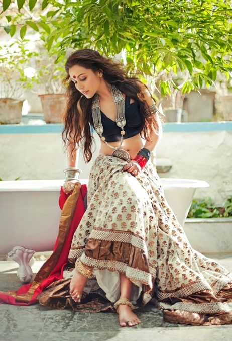 Actor Rani Mukherjee in Saree Ensemble by http://www.sabyasachi.com/
