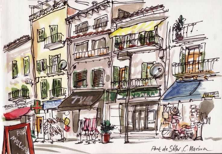 Urban Sketches from Mallorca by Detlef Surrey