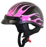 DOT Black Outlaw Pink Flames Half Helmet: Dot Motorcycle, Half Helmet, Pink Flames, Outlaw Pink, Motorcycle Helmets, Dots, Black Outlaw, Black Half