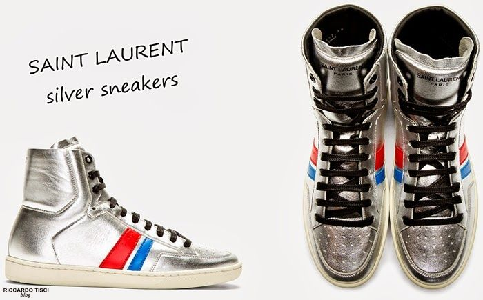 SAINT LAURENT Silver Metallic Sneakers   2014-2015 Collection - SPENTMYDOLLARS   Fashion Trends, Shoes, Bags, Accessories for Men & Women