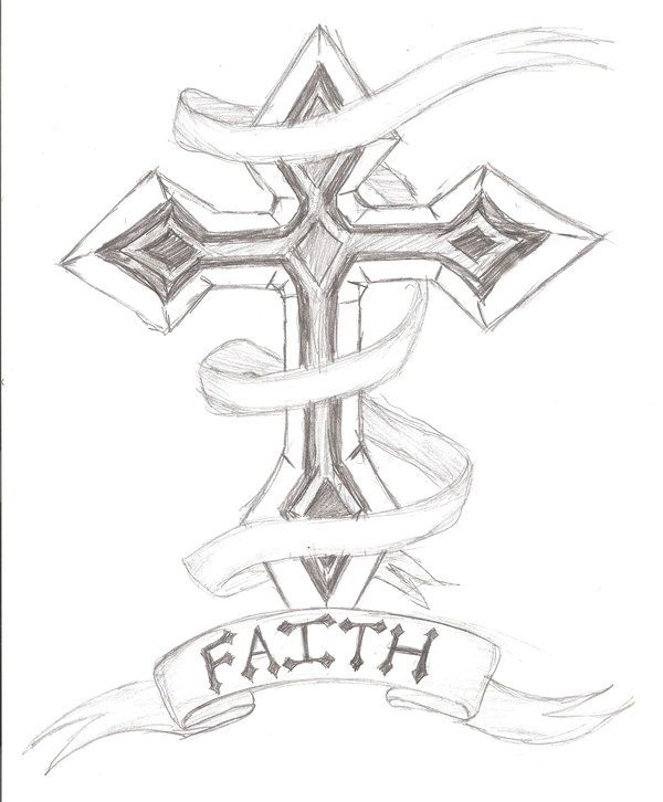 Cross Outline Tattoo Designs | Cross Tattoo Design by ~The ...