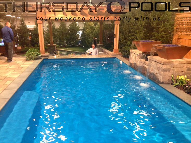 17 best images about thursdaypools on pinterest swim for Walk in pool designs