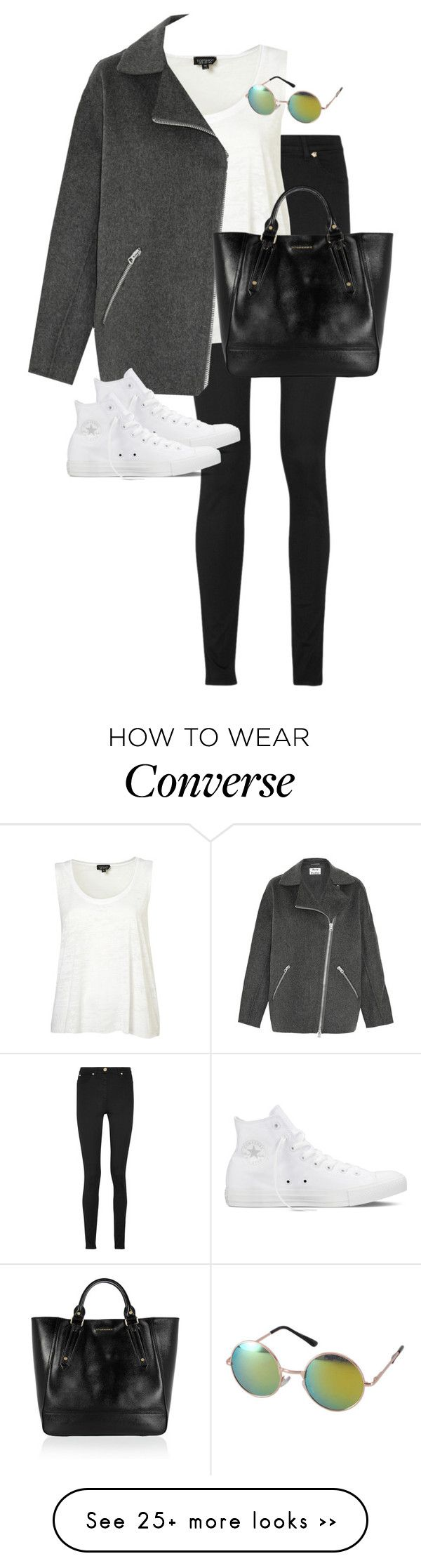 """""""Untitled #9623"""" by alexsrogers on Polyvore featuring Versace, Acne Studios, Converse, Revo and Burberry"""