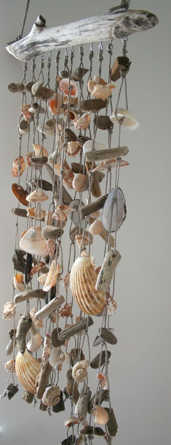 17 best images about simply chiming on pinterest glass for Shell wind chimes diy