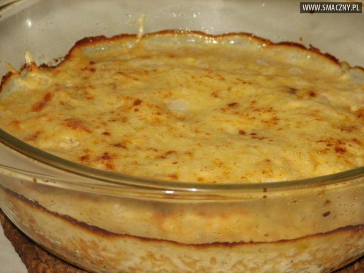 Białe szparagi zapiekane w serowym sosie