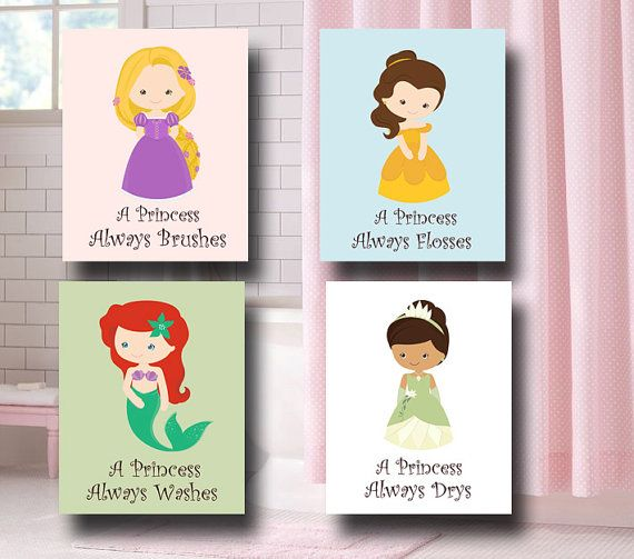Hey, I found this really awesome Etsy listing at http://www.etsy.com/listing/165250331/princess-bathroom-wall-art-bathroom