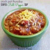 Crock Pot Stuffed Bell Pepper Soup