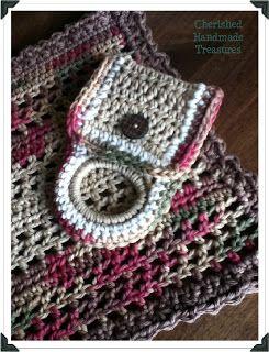 Crochet Towel Holder pattern - free