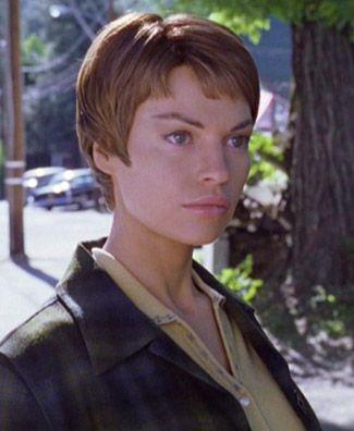 "Jolene Blalock also played T'Pol's second foremother (great-grandmother) T'Mir in the Star Trek: Enterprise episode ""Carbon Creek""."