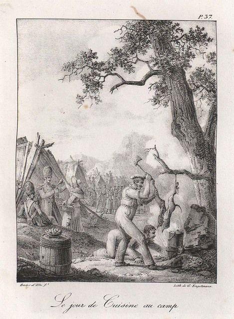 """1818 """"Le jour de cuisine au camp"""" """"Matlagning på dagen i lägret"""""""