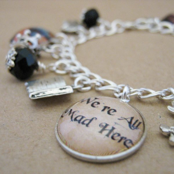 """We're All Mad Here"" Charm Bracelet 