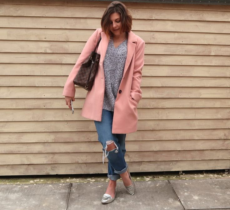 Pink Coat / Silver Shoes / Ripped Jeans / Neverfull
