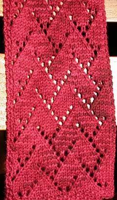 Eu escrevi o padrão para o lenço de renda vermelha que eu fiz recentemente com Araucania Nat ...
