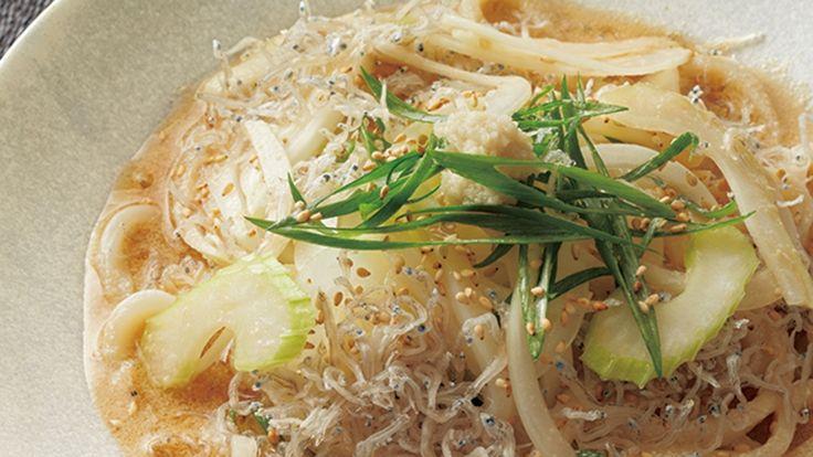 新たまねぎとじゃこのサラダうどん レシピ 野崎 洋光さん|【みんなのきょうの料理】おいしいレシピや献立を探そう