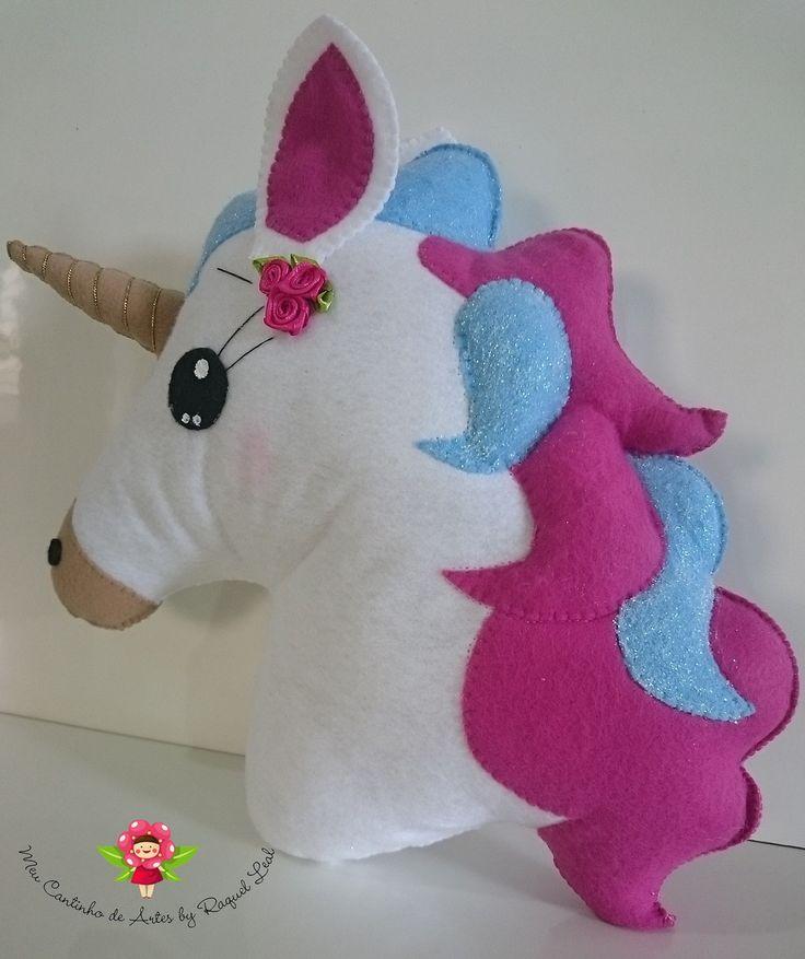 Unicornio em feltro   Raquel Leal - Meu cantinho de ARTES   Elo7