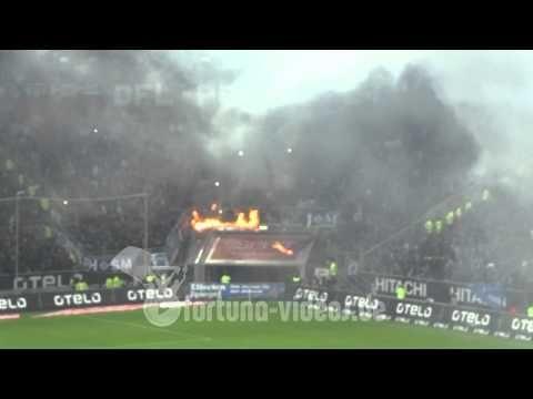 Stupid Soccer Fans Burn Banner