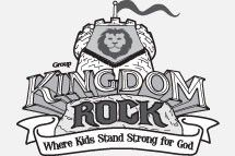 Kingdom Rock VBS 2013 clip art vector logo, hand out to Sunday School as a coloring page along with our VBS date/time info.