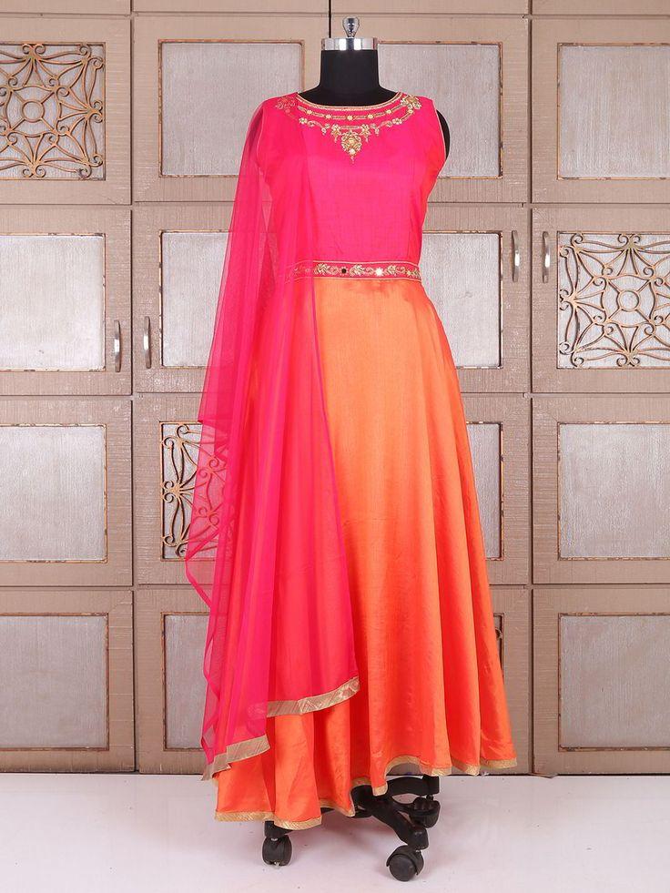 Двухцветное длинное эксклюзивное платье, без рукавов, украшенное вышивкой люрексом и бисером