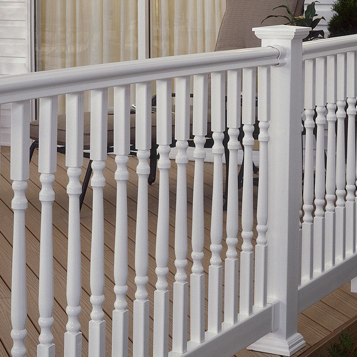 Shop Fiberon 5-Pack 34-in White Composite Deck Balusters at Lowes.com