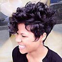 fluffy kort naturlig krøllete menneskelig hår parykk Fuel parykk varme trygt for kvinner 2017