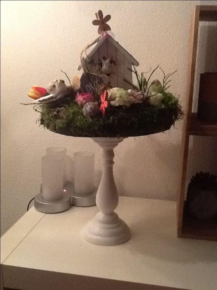 Vogelhuisje, kandelaar, bloemen en knutselen maar!