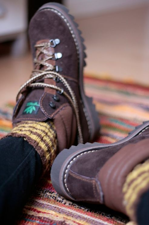 Hiking boots. - Hiking in style? Yes please.