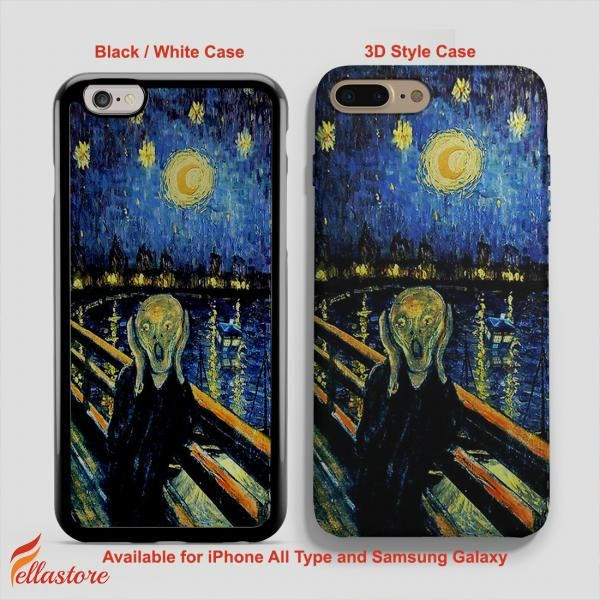 awesome Tardis Drowned at Van Gogh World Apple, Doctor Who iPhone 7-7 Plus Case, iPhone 6-6S Plus, iPhone 5 5S SE, Samsung Galaxy S8 S7 S6 Cases and Other