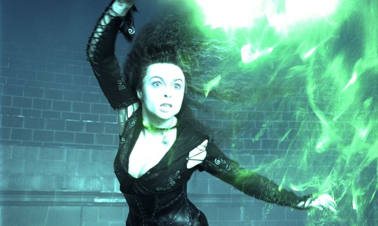 Bellatrix battles with Sirius (Harry Potter and the Order of the Phoenix)